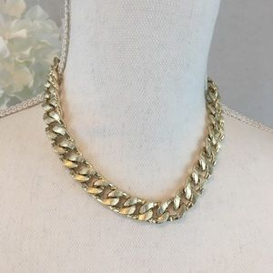 Vtg Collar Style Chain Necklace Career Statement